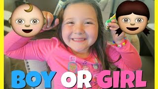 Pregnancy Baby Gender Predictor - Will We Have A Boy Or Girl!?!   Daisys Toy Vlog