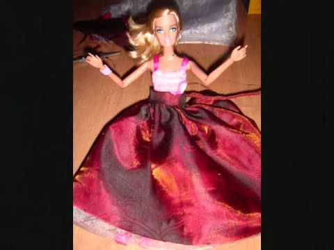 how to make barbie dress with clay