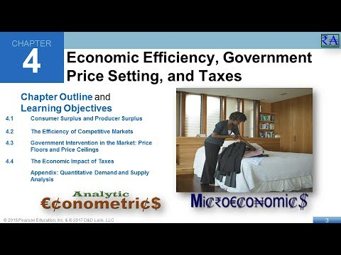 Chapter 04: Economic Efficiency, Government Price Setting, and Taxes