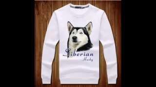 Siberian Husky Dog Pullover Sweatshirt