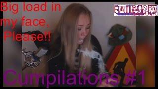 Cumshot on livestream + Cum in her Face TWITCHFAIL