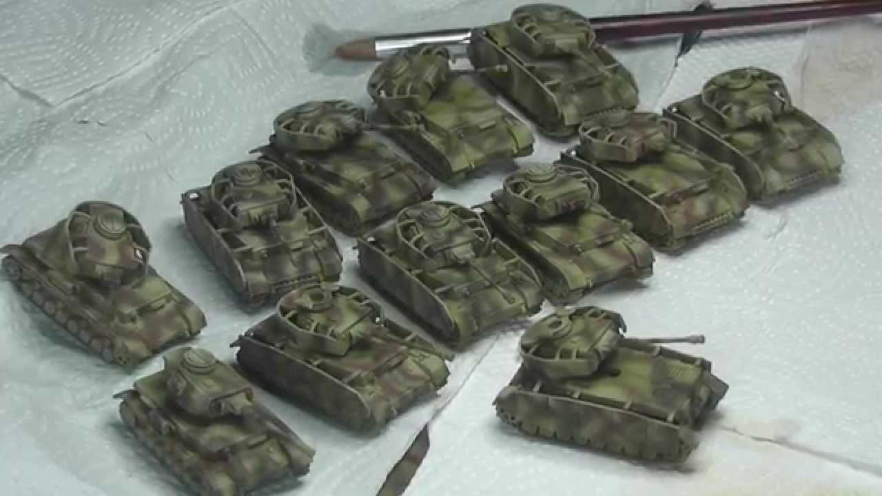 15mm Panzer IV painting log: free-hand tri-tone camo