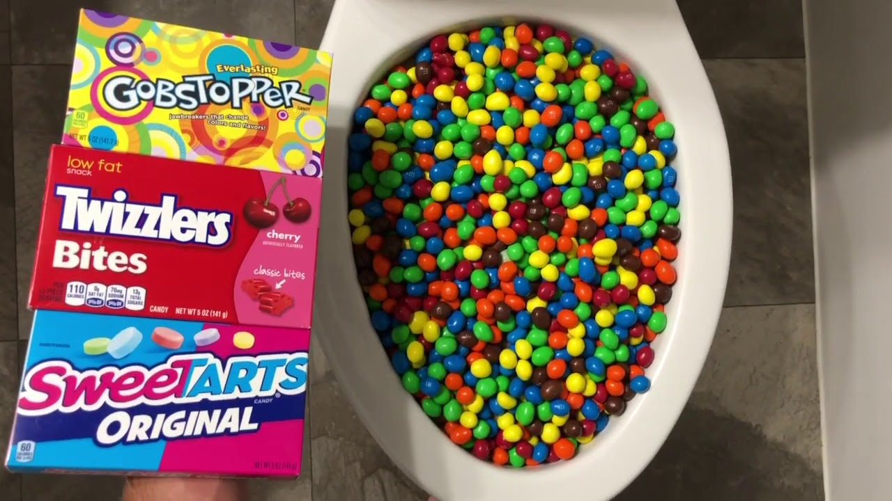 Will it Flush? - M&M's, Sweetarts, Twizzlers, Gobstoppers