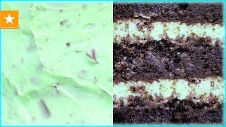★ ШОКОЛАДНЫЙ ТОРТ С МЯТНЫМ КРЕМОМ ★ Рецепт торта без яиц от Мармеладной Лисицы ★