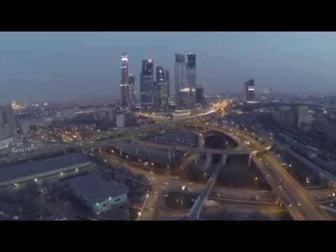Москва-Сити. вечерний полет над городом