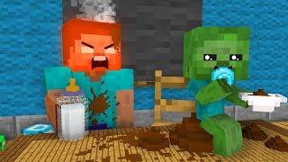 Monster School: Zombie Baby Sitter - Minecraft Animation