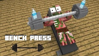Monster School : Bench Press - Minecraft Animation