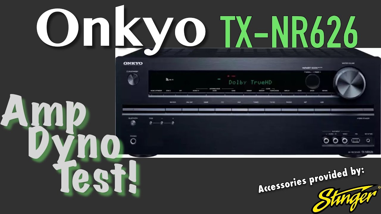Onkyo TX-NR626 Amp Dyno Test Home Theater Receiver