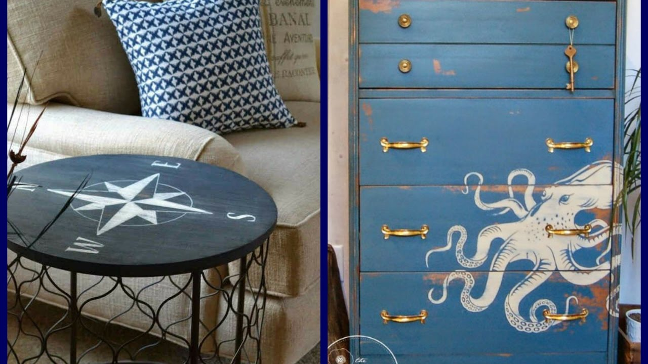 Coastal Style Furniture Makeover Ideas   Summer Home Decor Inspiration
