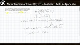 Abitur Mathematik 2012 Bayern - Analysis II Teil 2 Aufgabe 1b