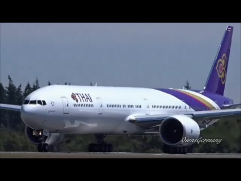 HS-TKY Thai Airways Boeing 777-300ER Delivery Flight of Yubhaphaka @ KPAE Paine Field