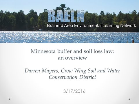 Minnesota buffer and soil loss law: an overview. 3-17-2016