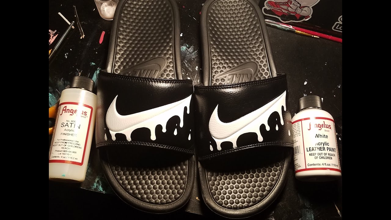 383ab840bb41c5 Custom Drip Nike Slides - YouTube