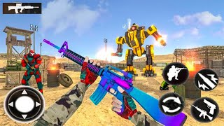 Mission Real Robot Counter Shooting Game - Android GamePlay - Shooting Games Android
