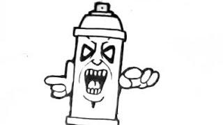 How to draw a  easy spraycan