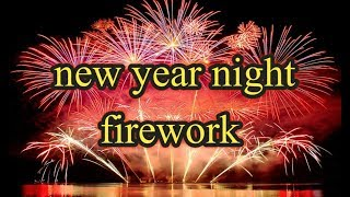 New year amazing firework in munich germany