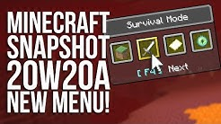 Minecraft Snapshot 20w20a: 10 NEW ADVANCEMENTS and Gamemode Changer!