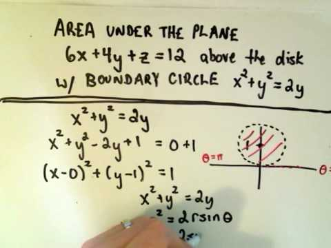 Double Integral Using Polar Coordinates - Part 1 of 3