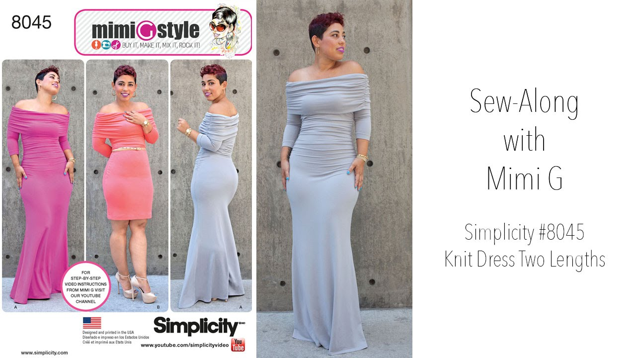 366d7f3da6 How to Sew a Dress with Mimi G Style Simplicity 8045 - YouTube