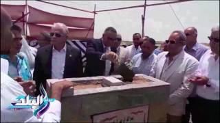 'فودة ودرويش' يضعان حجر أساس 61 منزلا بديلا لعشوائيات طور سيناء