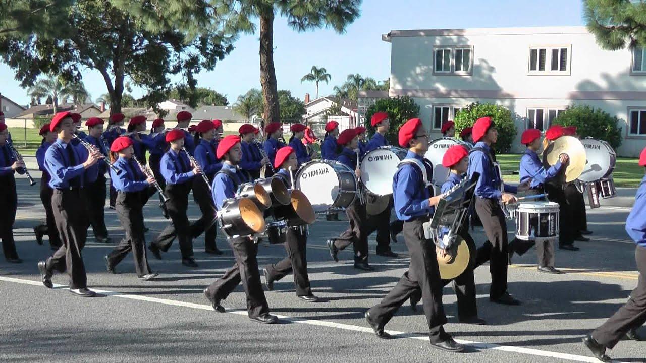 Camarillo Christmas Parade.San Gabriel Hs Band Sabre And Spurs 2011 Camarillo Christmas Parade
