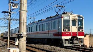 東武6050系&10030系すれ違い 6175Fと11459F 東武日光線普通列車