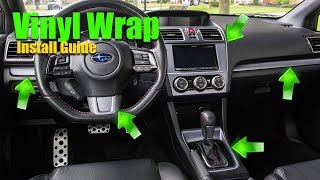 how to vinyl wrap interior trim detailed guide