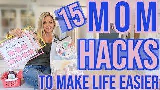15 REAL LIFE TIME SAVING MOM HACKS TO MAKE LIFE EASIER // ORGANIZE YOUR LIFE