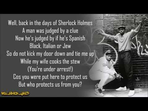 Boogie Down Productions - Who Protects Us From You? (Lyrics)