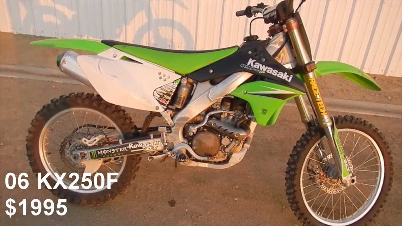 2006 Kawasaki KX250F For Sale SOLD SOLD SOLD - YouTube