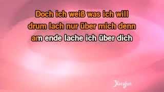 Karaoke Wenn du denkst du denkst dann denkst du nur du denkst - Juliane Werding *