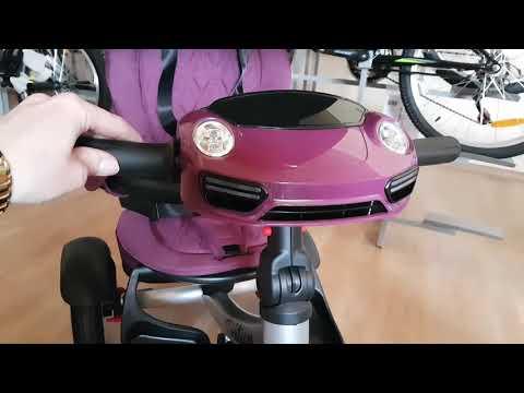 Tech Team Luxury трехколесный велосипед Видео обзор.