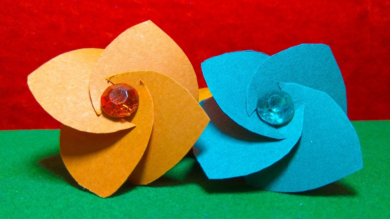Easy Paper Flowers Make Easy Paper Flowers For Children Youtube