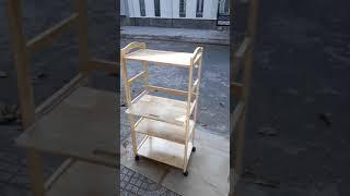Kệ để lò vi sóng 4 tầng bằng gỗ