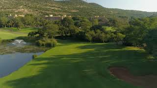 The 18th hole of the Gary Player Country Club golf course at Sun City