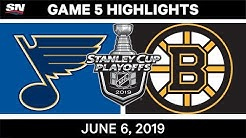 NHL Highlights | Blues vs. Bruins, Game 5 - June 6, 2019