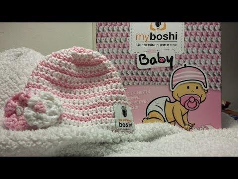Myboshi Baby Mütze Häkeln Mit Blümchen Youtube