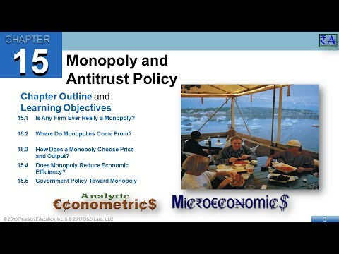 Chapter 15: Monopoly and Antitrust Policy