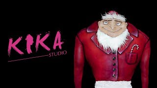 DESPICABLE ME - GRU in the Christmas mood / bodypainting illusion