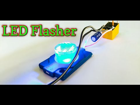 12 Volt LED Flasher Using Relay