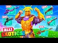 NEW ALL *EXOTIC* WEAPONS in Fortnite! (SECRET LOCATIONS)