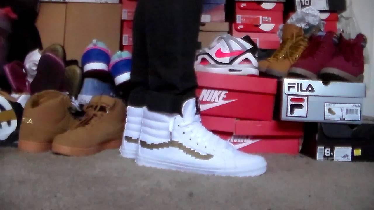 8b83043726f On Foot  Skate Hi Slim Vans x Nintendo white gold - YouTube
