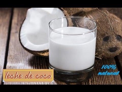 Cómo hacer LECHE DE COCO 100% natural +beneficios+propiedades / Rony en casa