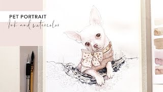 Watercolor Dog Portrait painting demonstration