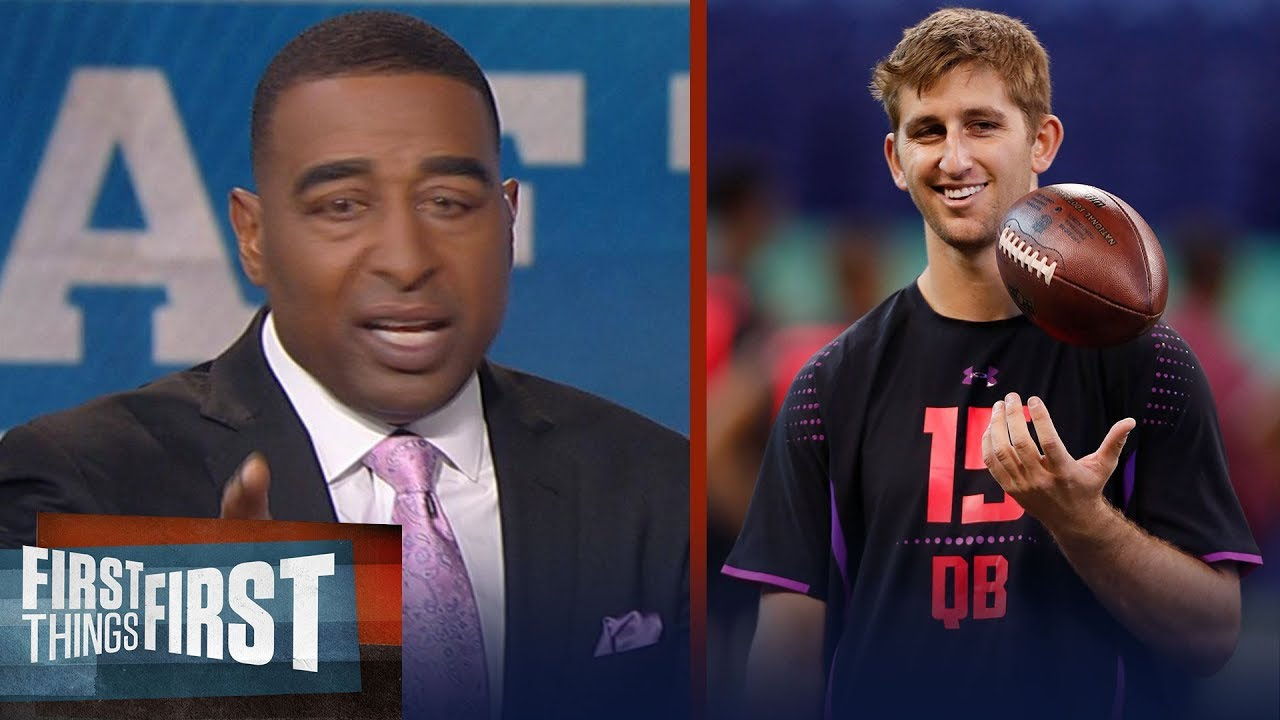 Cris Carter reveals why he is concerned about NFL QB prospect Josh Rosen | FIRST THINGS FIRST