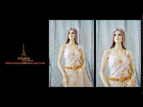 ชุดไทย แต่งงาน Thai Wedding Dresses Desing By PARIS Khonkaen