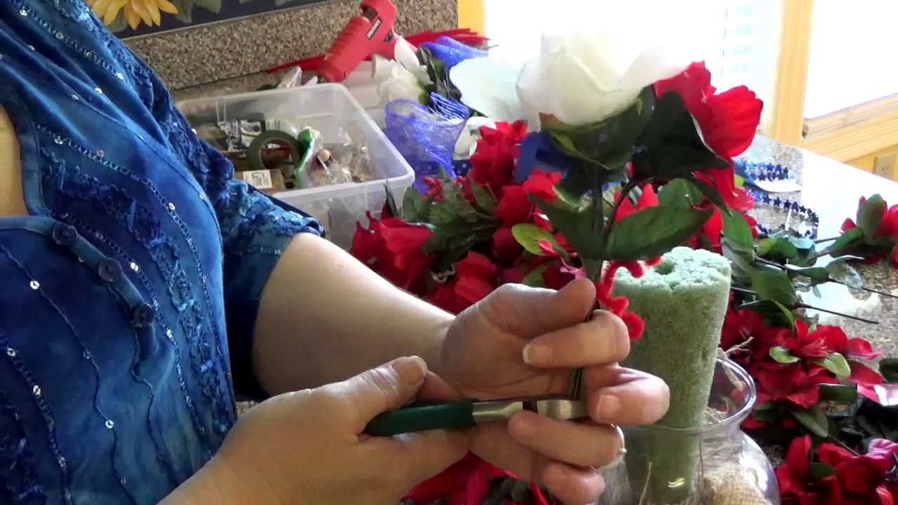 How To Make Silk Flower Arrangements For Memorial Day Beautiful