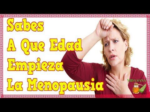 En que edad empieza la menopausia