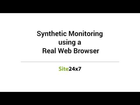 Monitoring of web transactions made easy - Site24x7 Synthetic Monitoring