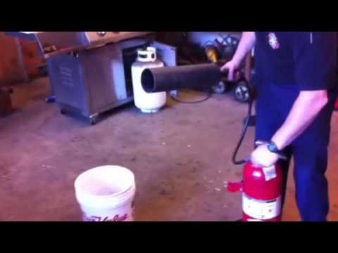 Out of date CO2 fire extinguisher used to chill soda